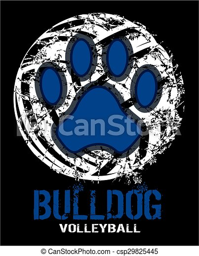 bulldog volleyball - csp29825445