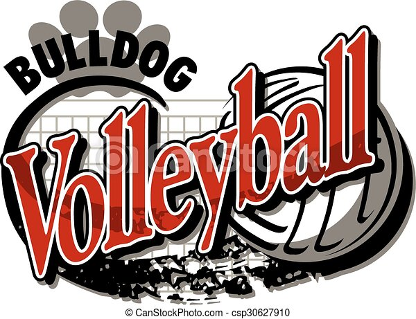 bulldog volleyball - csp30627910