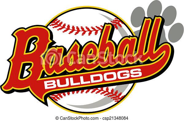 bulldogs baseball - csp21348084