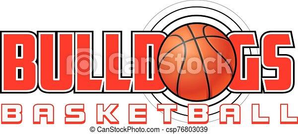 Bulldogs Basketball Design - csp76803039