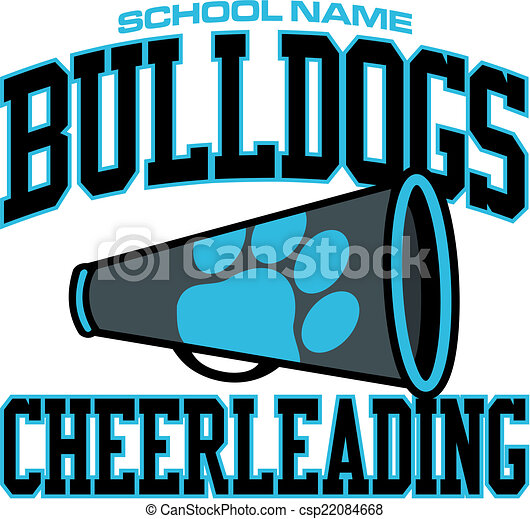bulldogs cheerleading design - csp22084668