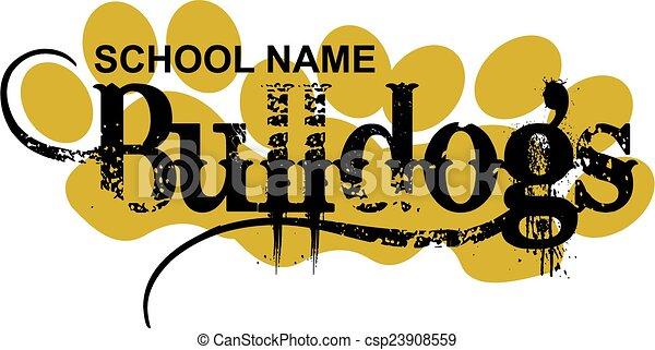 bulldogs design - csp23908559