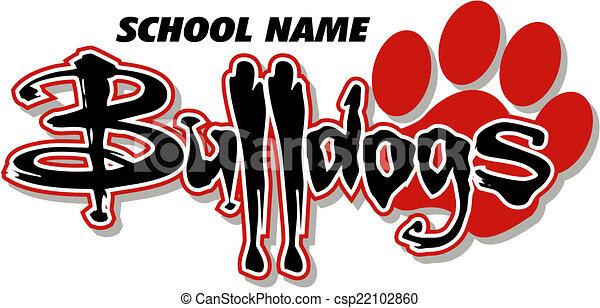 bulldogs design with paw print - csp22102860