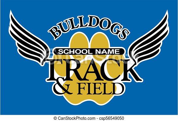 bulldogs track and field - csp56549050