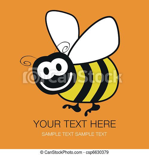 Bumble bee design. - csp6630379