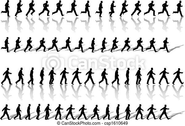 Business Man Frame Sequence Loops Run & Power Walk - csp1610649