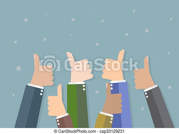 Businessman hold thumbs up - csp33129231