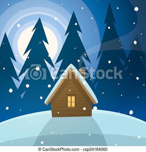 Cabin in the woods - csp24184060