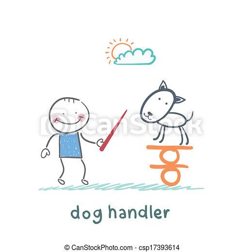canine teaches the dog to keep the balance - csp17393614
