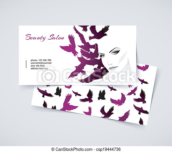 Cards with woman - csp19444736