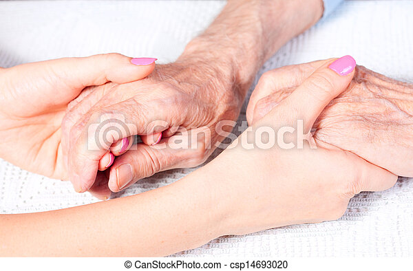 care is at home of elderly - csp14693020