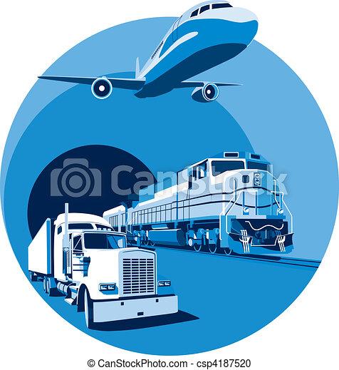 cargo transportation blue - csp4187520