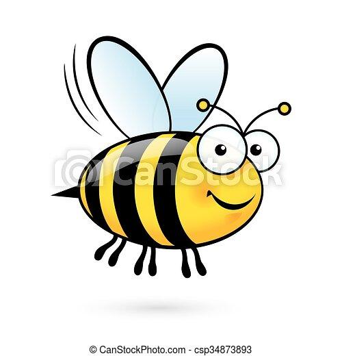 Cartoon Bee - csp34873893