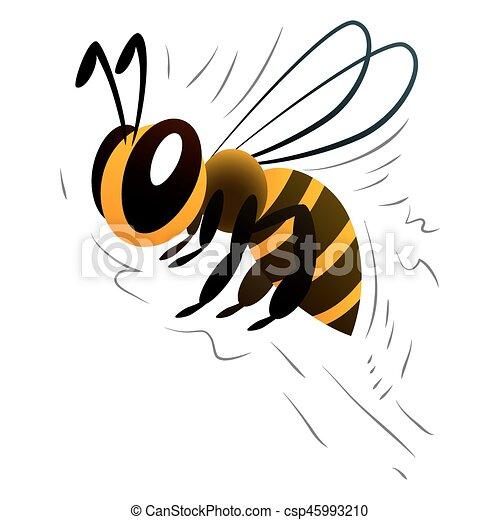 cartoon bee on a white background - csp45993210