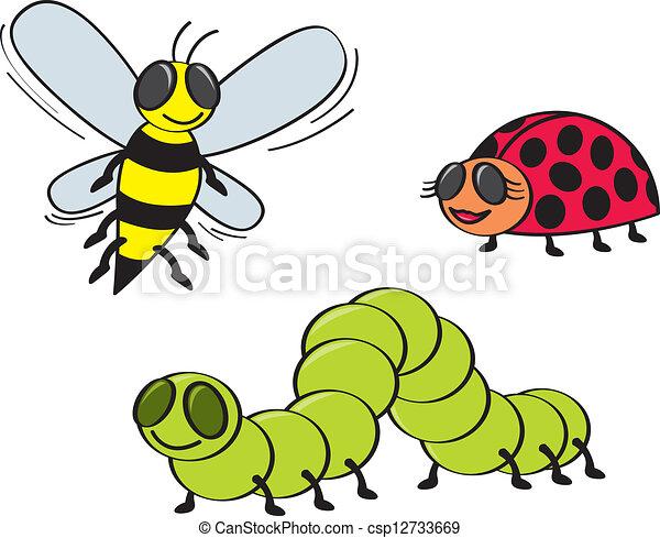 Cartoon Bugs - csp12733669