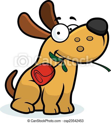 Cartoon Dog Rose - csp23542453