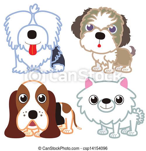 cartoon dog set. - csp14154096
