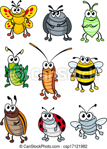 Cartoon insects - csp17121982