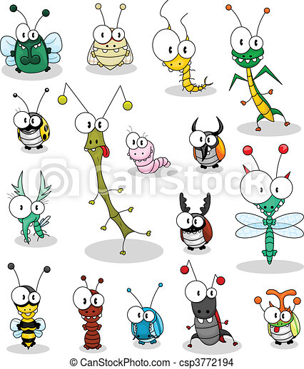 Cartoon insects - csp3772194