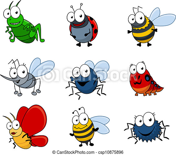 Cartoon insects set - csp10875896