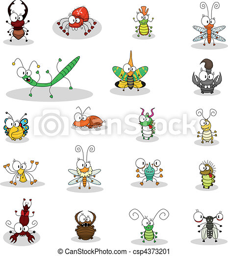 Cartoon insects - csp4373201