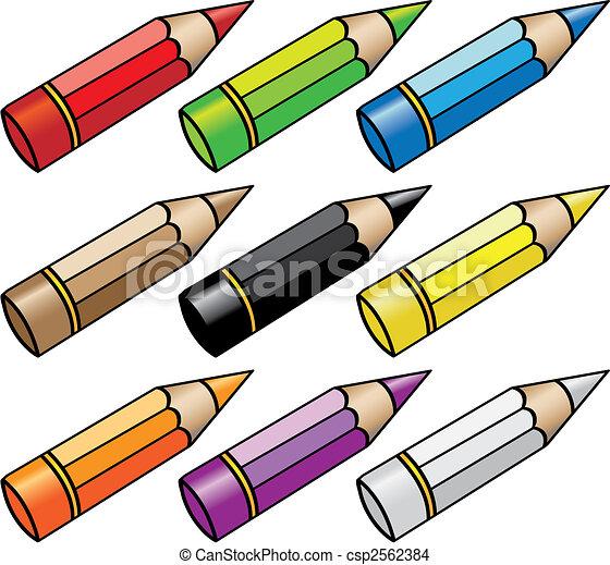cartoon pencils - csp2562384