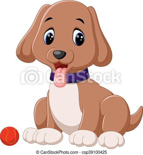 cartoon puppy - csp39100425