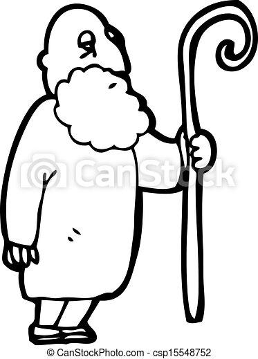 cartoon shepherd - csp15548752