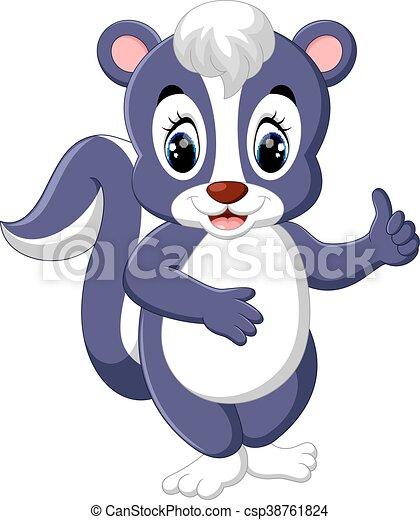 Cartoon skunk posing - csp38761824