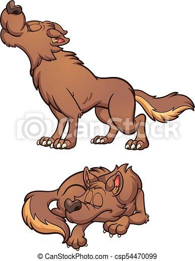 Cartoon wolf - csp54470099
