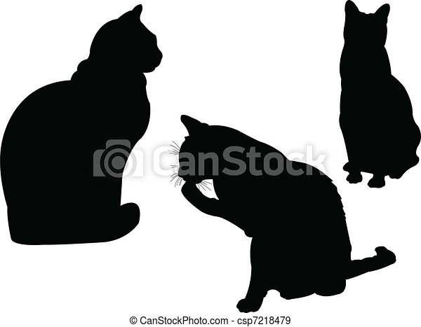 cat collection 2 - vector - csp7218479
