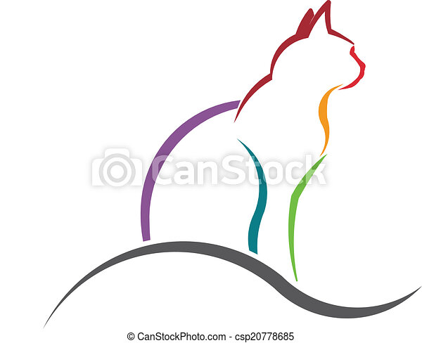 Cat color styled silhouette image. - csp20778685
