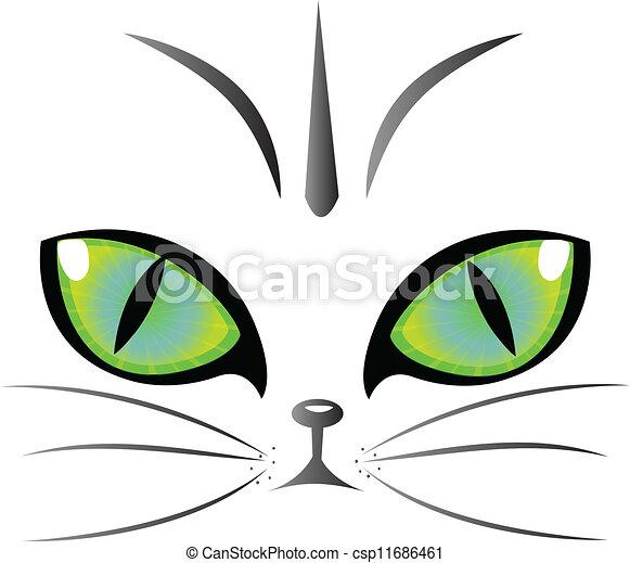 Cat eyes logo vector - csp11686461