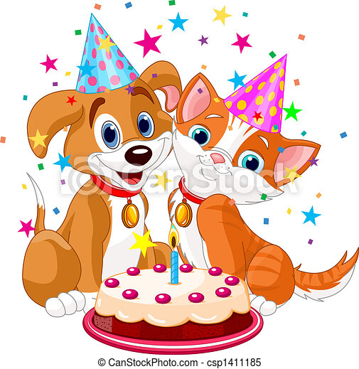 cat n dog birth - csp1411185
