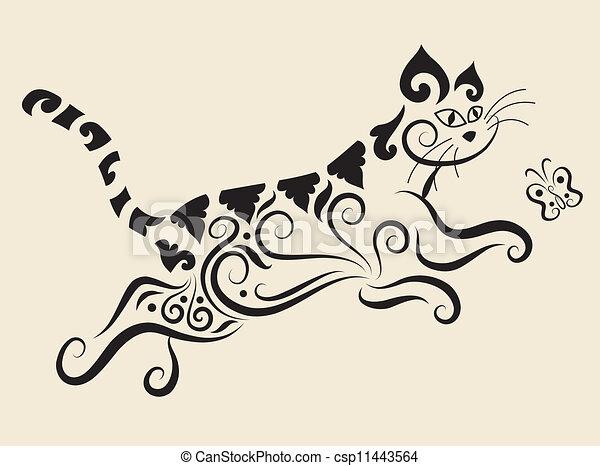 Cat ornament - csp11443564