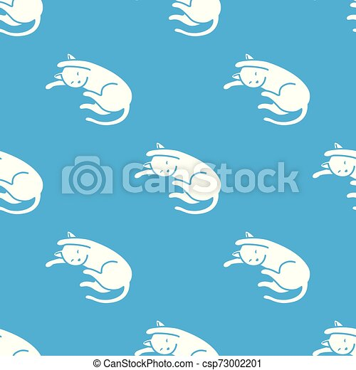 Cat Seamless Pattern kitten vector scarf isolated tile background repeat wallpaper cartoon illustration - csp73002201