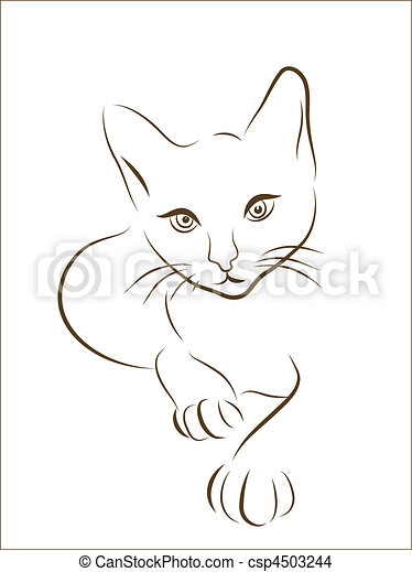 cat silhouette - csp4503244