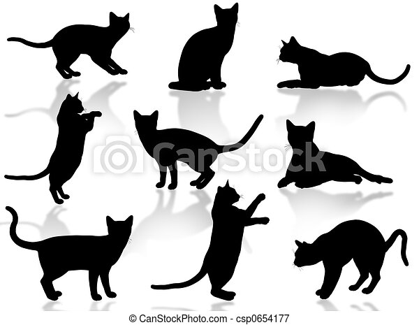 Cats silhouette - csp0654177