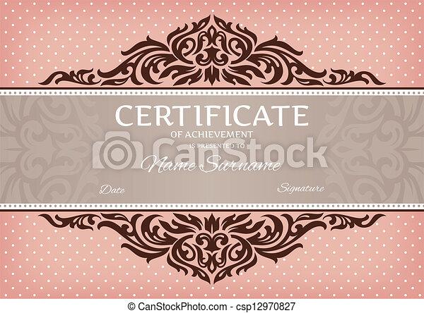 certificate of achievement - csp12970827