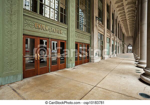 Chicago Union Station Entrance. - csp10183781