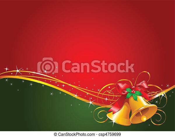Christmas bells background - csp4759699