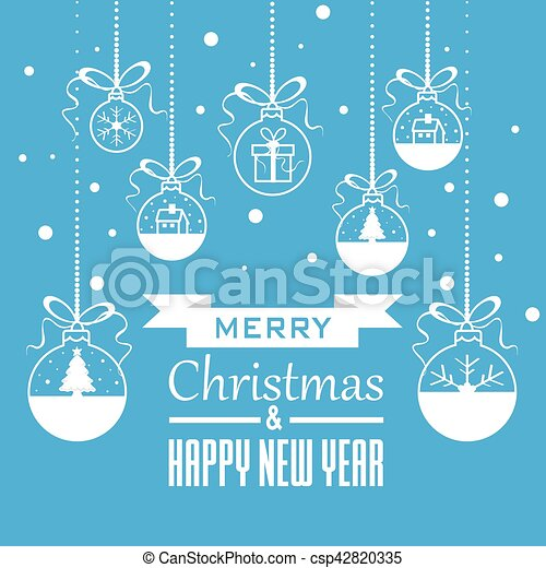 Christmas Greeting Card - csp42820335