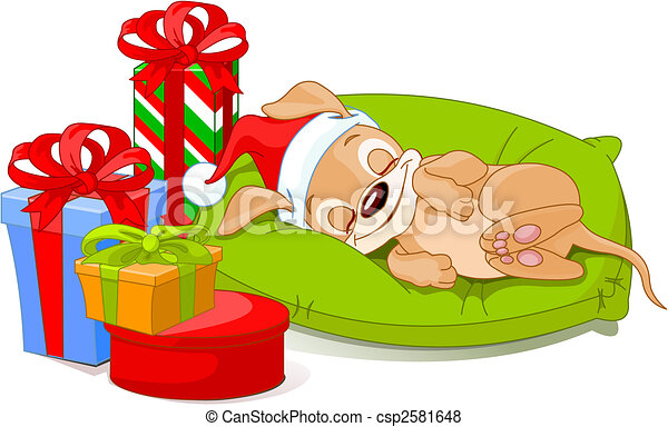 Christmas puppy - csp2581648