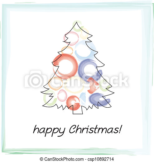 christmas tree - csp10892714