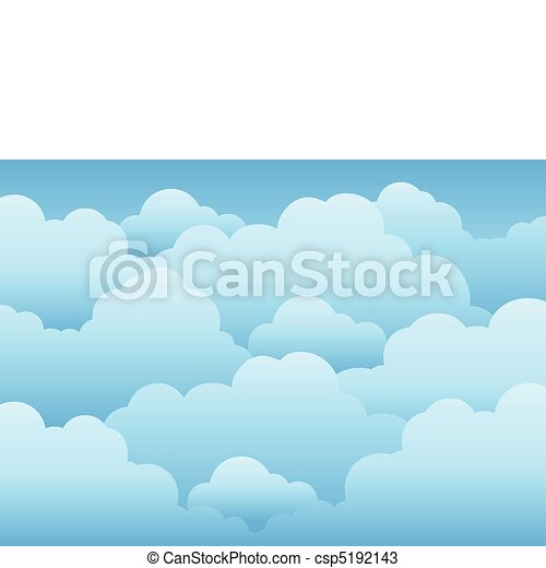 Cloudy sky background 1 - csp5192143