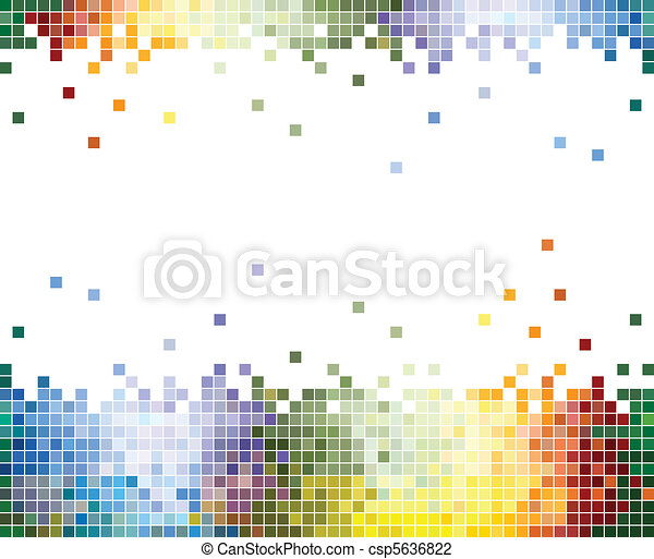 Color Pixels Abstract background - csp5636822