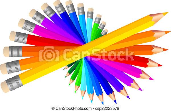 colored pencils, vector set - csp22223579