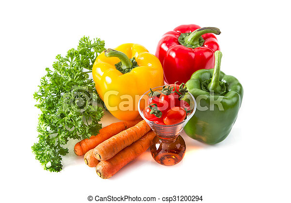 colorful fresh vegetables ,Fruits and vegetables for healthy - csp31200294