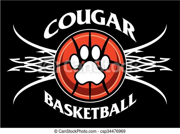 cougar basketball - csp34476969