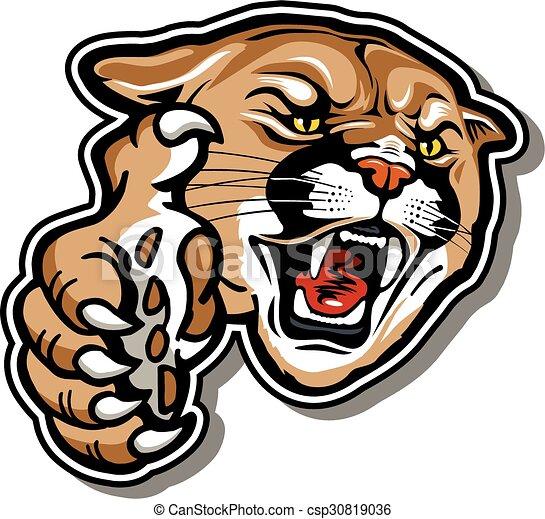 cougar mascot - csp30819036